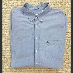 Lacoste Long Sleeve Button Up Shirt Men's 2XL